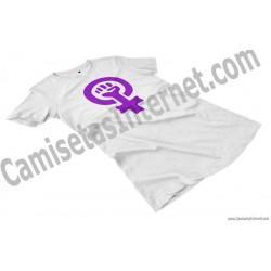 Camiseta Día Internacional de la Mujer chica color blanco perspectiva