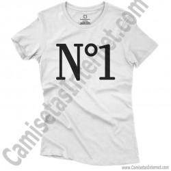 Camiseta Nº1 chica color blanco