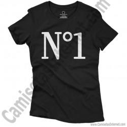 Camiseta Nº1 chica color negro