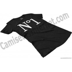 Camiseta Nº1 chica color negro perspectiva