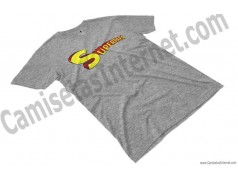 Camiseta Superpapá chico color gris perspectiva
