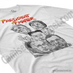 Camiseta President Fighter V1.0 Chico color blanco perspectiva cerca