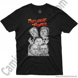 Camiseta President Fighter V1.0 Chico color negro