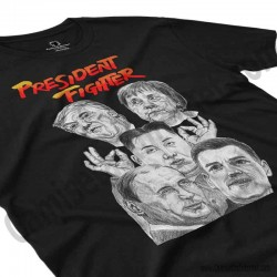 Camiseta President Fighter V2.0 Chico color negro perspectiva cerca