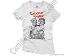 Camiseta President Fighter V1.0 Chica color blanco