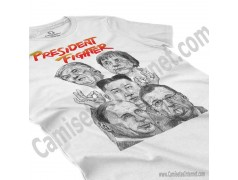 Camiseta President Fighter V1.0 Chica color blanco perspectiva cerca