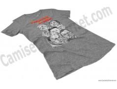 Camiseta President Fighter V1.0 Chica color gris jaspeado perspectiva