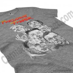 Camiseta President Fighter V1.0 Chica color gris jaspeado perspectiva cerca