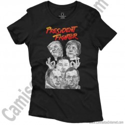 Camiseta President Fighter V1.0 Chica color negro