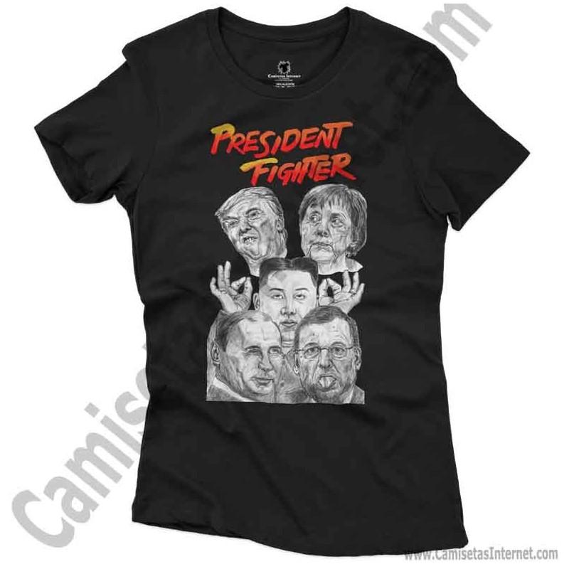 Camiseta President Fighter V1.0 Chica color negro