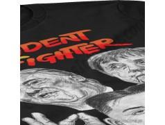 Camiseta President Fighter V1.0 Chica color negro gran detalle