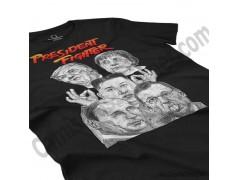 Camiseta President Fighter V1.0 Chica color negro perspectiva cerca