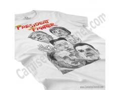 Camiseta President Fighter V2.0 Chica color blanco perspectiva cerca