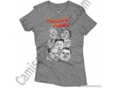 Camiseta President Fighter V2.0 Chica color gris jaspeado