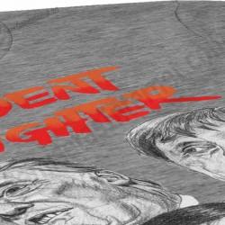 Camiseta President Fighter V2.0 Chica color gris jaspeado gran detalle