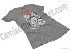 Camiseta President Fighter V2.0 Chica color gris jaspeado perspectiva