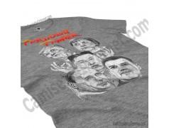 Camiseta President Fighter V2.0 Chica color gris jaspeado perspectiva cerca
