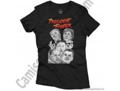 Camiseta President Fighter V2.0 Chica color negro