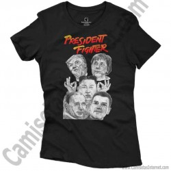 Camiseta President Fighter V2.0 Chica color negro