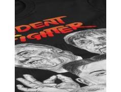 Camiseta President Fighter V2.0 Chica color negro gran detalle