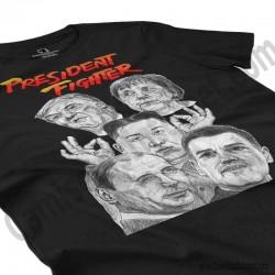 Camiseta President Fighter V2.0 Chica color negro perspectiva cerca