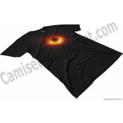 Camiseta agujero negro Chico color negro perspectiva