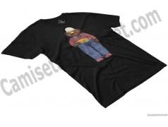 Camiseta Don Pimpón chico color negra en perspectiva