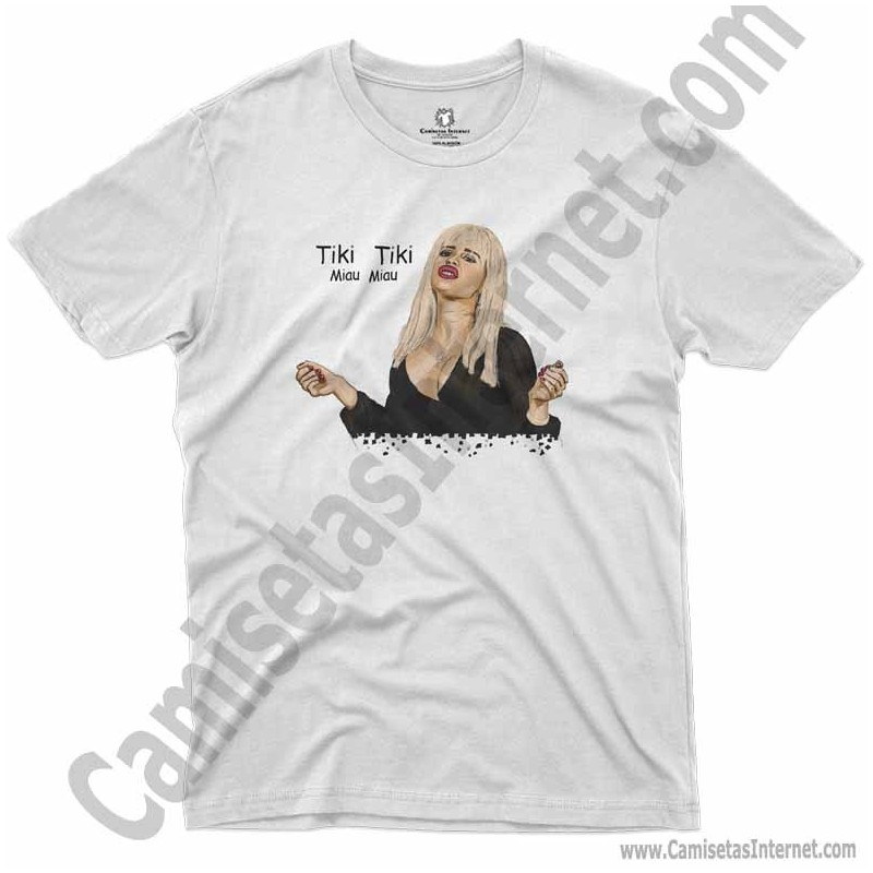 Camiseta Ylenia Tiki Tiki Miau Miau Chico color blanco