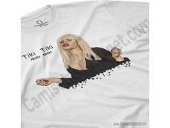 Camiseta Ylenia Tiki Tiki Miau Miau Chico color blanco perspectiva cerca