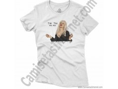 Camiseta Ylenia Tiki Tiki Miau Miau Chica color blanco
