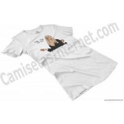 Camiseta Ylenia Tiki Tiki Miau Miau Chica color blanco perspectiva
