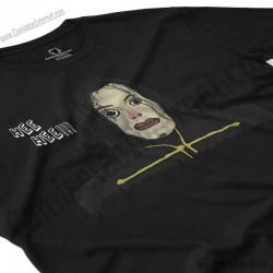 Camiseta Ayuwoki Chico color negro perspectiva cerca