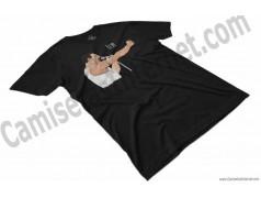 Camiseta EO!!! Chico color negro perspectiva