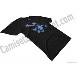 Camiseta Coco chico color negro perspectiva