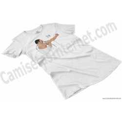 Camiseta EO!!! Chica color blanco perspectiva