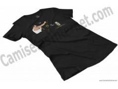 Camiseta EO!!! VS Ayuwoki Chica color negro perspectiva