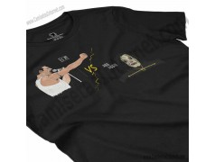 Camiseta EO!!! VS Ayuwoki Chica color negro perspectiva cerca