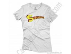 Camiseta Supermamá chica color blanco