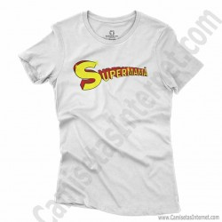 Camiseta Supermamá chica color blanco