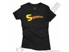 Camiseta Supermamá chica color negro