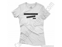 Camiseta Madre, maestra de la vida para chica color blanco