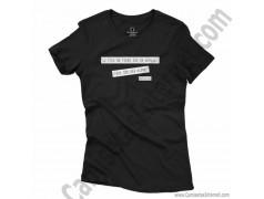 Camiseta Madre, maestra de la vida para chica color negro