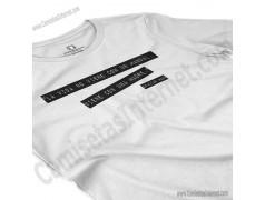 Camiseta Madre, maestra de la vida para chica color blanco perspectiva cerca