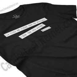 Camiseta Madre, maestra de la vida para chica color negro perspectiva cerca