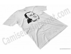 Camiseta meme Friki Chico color blanco perspectiva