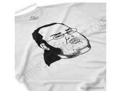 Camiseta meme Friki Chico color blanco perspectiva cerca