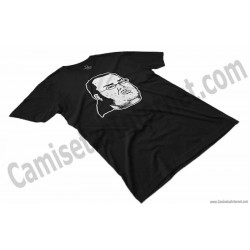 Camiseta meme Friki Chico color negro perspectiva