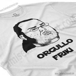 Camiseta meme Friki - Orgullo Friki Chico color blanco perspectiva cerca