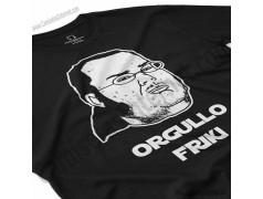 Camiseta meme Friki - Orgullo Friki Chico color negro perspectiva cerca
