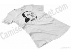 Camiseta meme Friki Chica color blanco perspectiva
